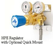 Brass Two-Stage Regulator Model HPE with Quick Mount